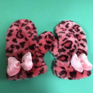ディズニー(Disney)のディズニー 手袋 ミニー ヒョウ柄(手袋)