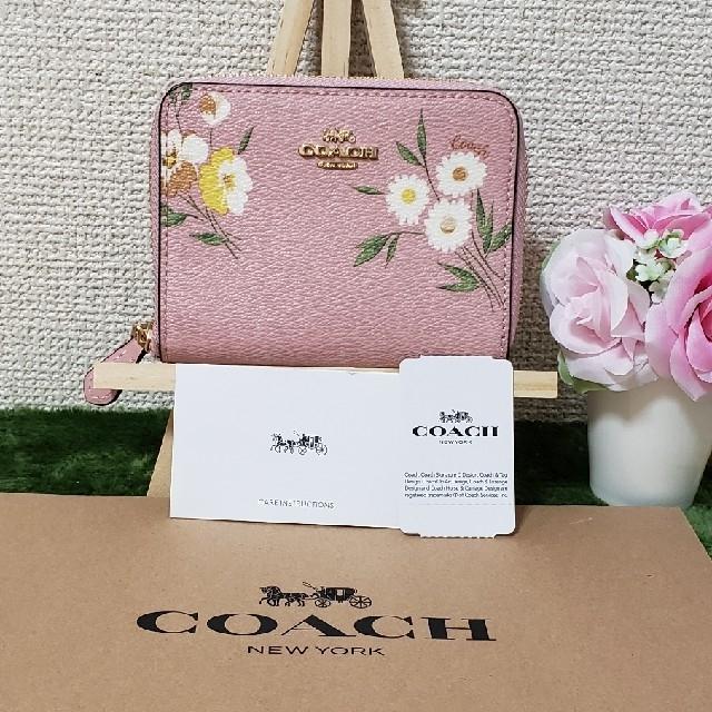 COACH - COACH折り財布 スモールジップピンク�通販 by dorasena's shop