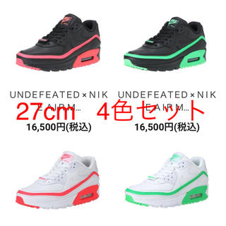 ナイキ(NIKE)のNike air max 90 undefeated 27cm(スニーカー)