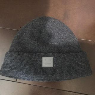 アクネ(ACNE)のacne ニット帽 グレー(ニット帽/ビーニー)
