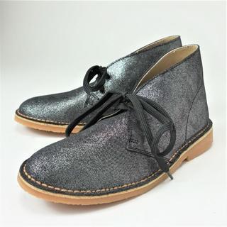 SLADAN 本革 ショートブーツ シルバー 23.5㎝ 8601371501(ブーツ)