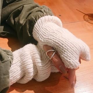 トゥデイフル(TODAYFUL)のtodayful アームウォーマー ホワイト(手袋)