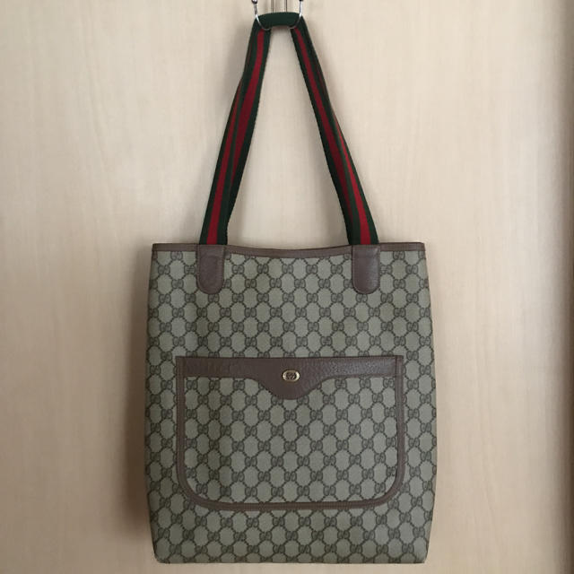 Gucci - オールド グッチ トートバッグ  の通販 by ローズ's shop