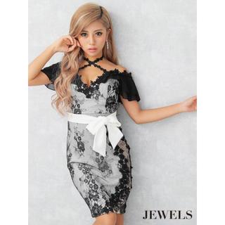 ジュエルズ(JEWELS)の新品☆JEWELS クロスネック/レース/リボン/キャバドレス(ナイトドレス)