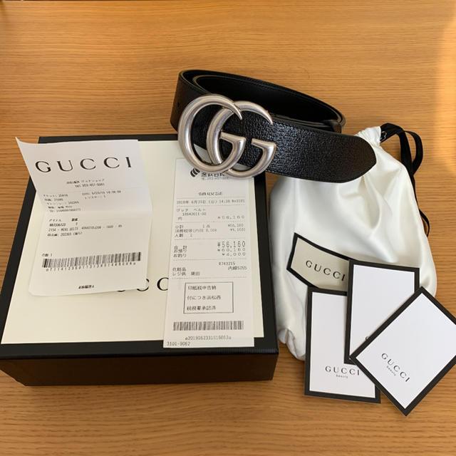 Gucci - GUCCI GGベルト シルバー gucci ベルト 85cmの通販 by カバヲくん's shop
