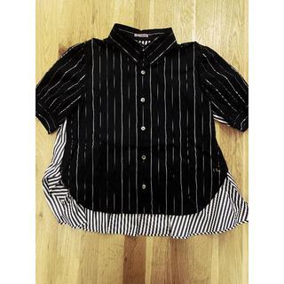 アンダーカバー(UNDERCOVER)のsue undercover ストライプ半袖パネルシャツ(シャツ/ブラウス(半袖/袖なし))