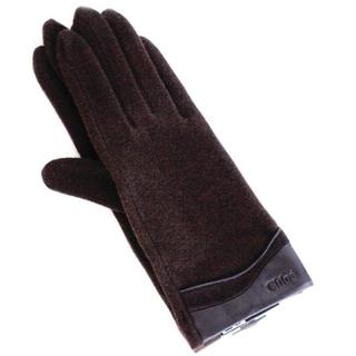 クロエ(Chloe)の新品 トリミング コンビ ブラウン クロエ Gants 手袋 SALE(手袋)