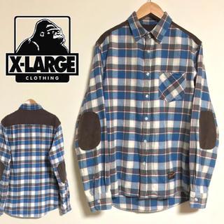 エクストララージ(XLARGE)のXLARGE エクストララージ 肘肩当て付山シャツ★アウトドアシャツ★ネルシャツ(シャツ)