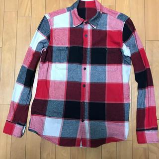 ザリアルマッコイズ(THE REAL McCOY'S)のタータンチェック ネルシャツ コットンシャツ クラシックワークシャツ レッド赤L(シャツ)