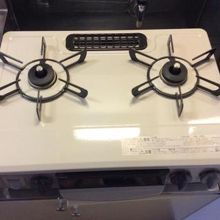 リンナイ(Rinnai)のリンナイ2口ガステーブル(プロパンガス用、ホース、マット込み)(調理機器)