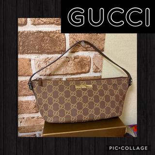グッチ 財布 コピー メンズ tシャツ 、 Gucci - 正規品꙳★綺麗ですGUCCIグッチGGキャンバスアクセサリーポーチ。ブラウンの通販