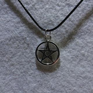 五芒星のペンダント42cm+5cm、安倍晴明印、魔除け、ペンタグラム、星(ネックレス)