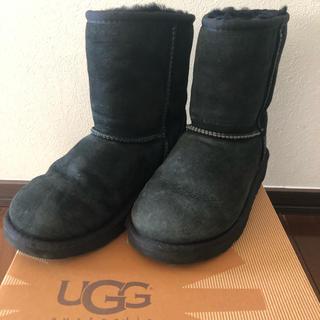 アグ(UGG)のUGGアグーブーツ 20センチ ブラック(ブーツ)