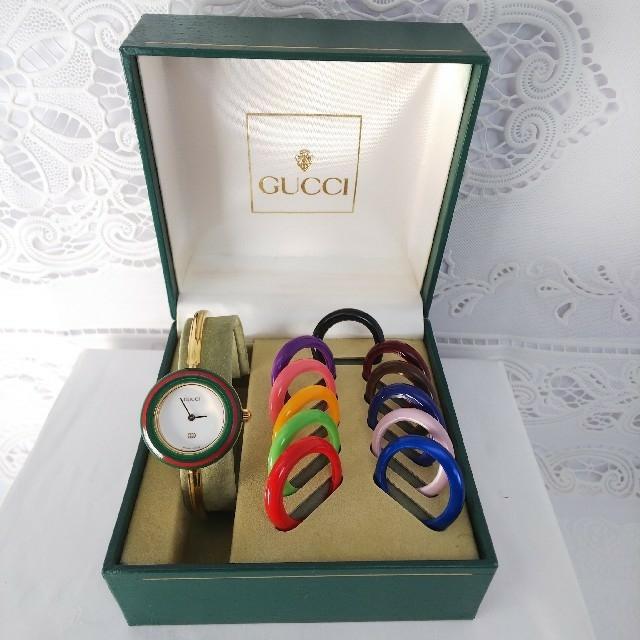 グッチ ベルト 偽物 見分け方 keiko | Gucci - GUCCI 腕時計 チェンジベゼル ttt175の通販 by ティファ's shop