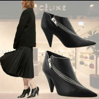 セリーヌ(celine)のCELINE ジップ ブーツ(ブーツ)