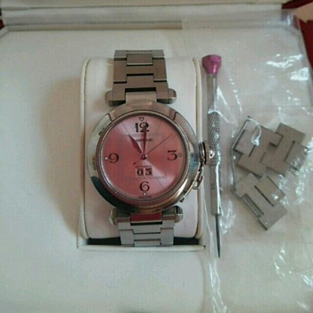 Cartier(カルティエ)の正規品 カルティエ時計 パシャ ピンク レディースのファッション小物(腕時計)の商品写真