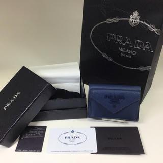 プラダ(PRADA)のPRADA サフィアーノレザー財布 1MH021 青 未使用品 プラダ (財布)