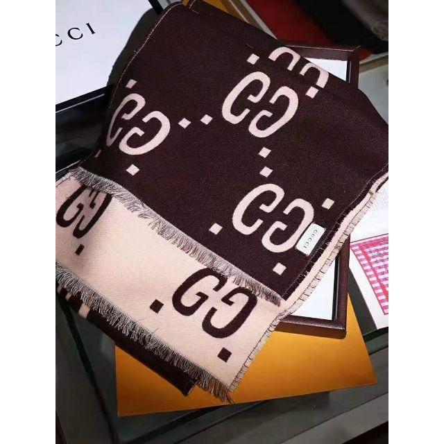 グッチ 財布 メンズ 偽物 | Gucci - GUCCI  GGジャカード ウールシルク スカーフの通販 by ひがかおり's shop