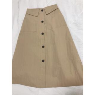 ティティベイト(titivate)のtitivate フロントボタンスカート(ひざ丈スカート)