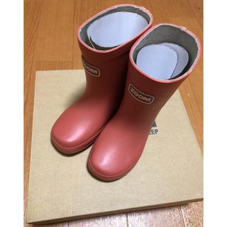 ズーム(Zoom)のzoom キッズ 長靴 red レッド 15センチ 新品未使用 箱あり(長靴/レインシューズ)