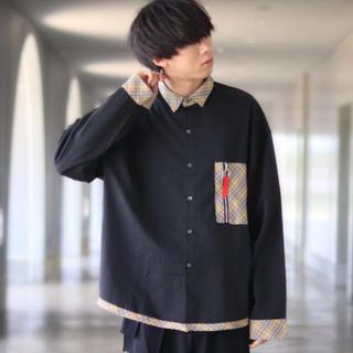 ハレ(HARE)のINTER FACTORY ポケットリングジップオーバーバルーンシャツ(シャツ)