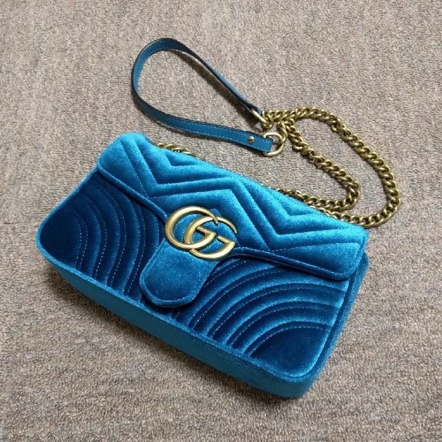 グッチ 財布 偽物 見分け方 574 - Gucci - グッチ マーモント ショルダーバッグの通販 by ヒーローズSHOP