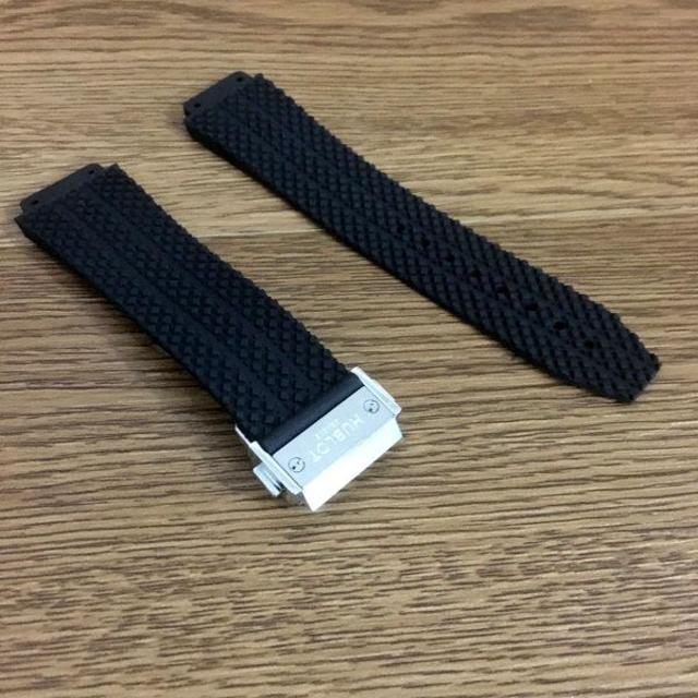 HUBLOT - 交換用 汎用 ウブロ 時計ベルト ブラック シルバーバックル 24mmの通販 by ラー油