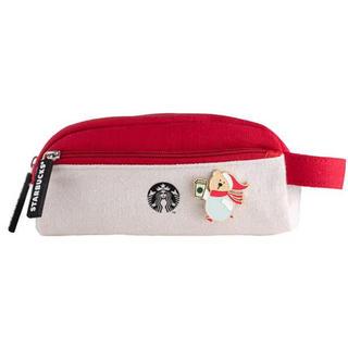 スターバックスコーヒー(Starbucks Coffee)の【一点のみすぐ発送可】台湾 スターバックス バッチ付き ペンケース 筆箱(ペンケース/筆箱)