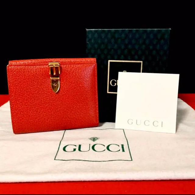 グッチ 財布 激安 偽物 1400 、 Gucci - 美品 レア 箱付き! グッチ オールドグッチ オールレザー 二つ折り 財布の通販 by マチルダ's shop