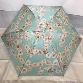 ポール&ジョー PAUL&JOE 折りたたみ傘 グリーン ブルー フラワー 花柄