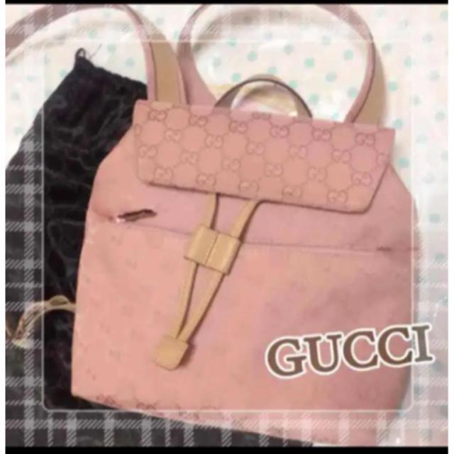 s no w アクセサリー | Gucci - GUCCI リュックの通販 by あーちゃん's shop