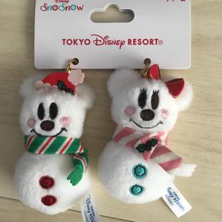 ディズニー(Disney)の『完売』ディズニー限定☆クリスマス スノースノー☆チャーム(キャラクターグッズ)