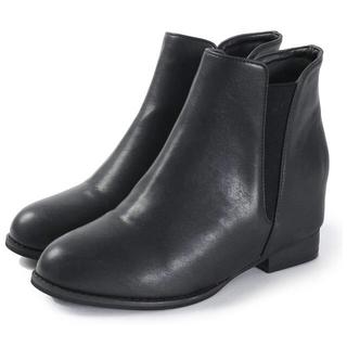サルース(salus)のサイドゴアブーツ ブラック 23.5cm❁⃘*.゚(ブーツ)
