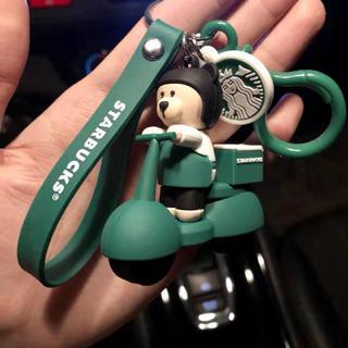 スターバックスコーヒー(Starbucks Coffee)のベアリスタ 熊 ストラップ キーホルダー キーチェーン 台湾 中国スターバックス(キャラクターグッズ)