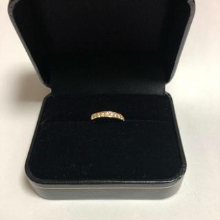ジュエリーマキ(ジュエリーマキ)のK18PGダイヤモンドピンキーリング(リング(指輪))