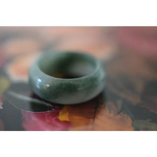 154-25 14.5号 天然 A貨 翡翠リング  硬玉ジェダイト(リング(指輪))