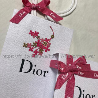 Dior - ブーケシール付き ラッピングセット ギフトボックス ショッパー ディオール 限定