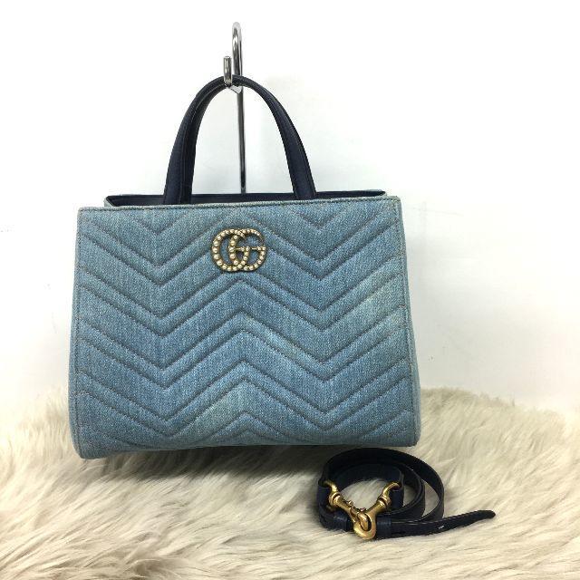 グッチ ベルト / Gucci - グッチ GGマーモント キルティング デニム 2wayバッグの通販 by FUKA's shop