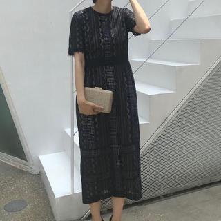 ラグナムーン(LagunaMoon)のラグナムーンドレス black(その他ドレス)