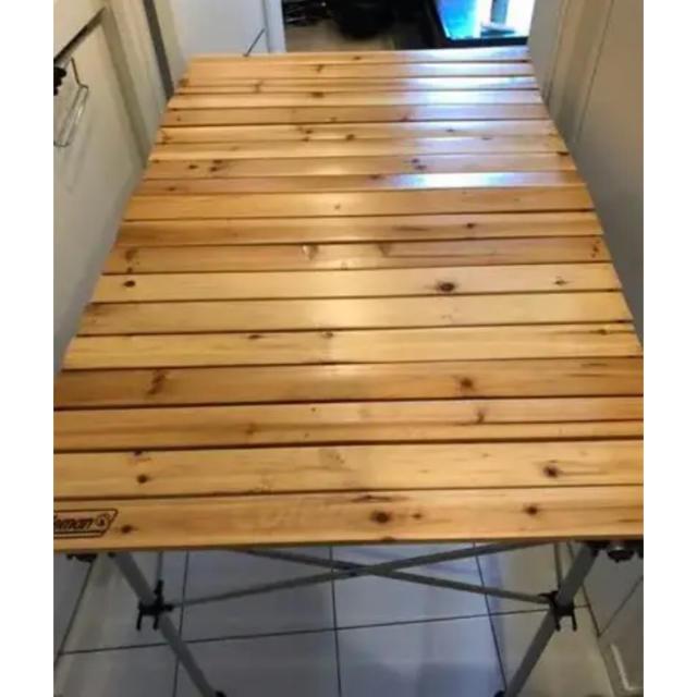 Coleman(コールマン)のコールマン ナチュラルウッドロールテーブル 110 インテリア/住まい/日用品の机/テーブル(アウトドアテーブル)の商品写真