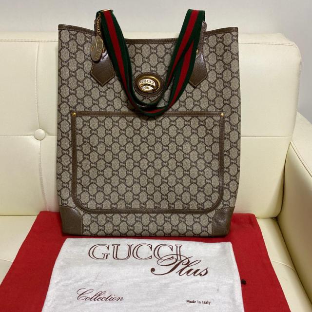 xperia z ultra アクセサリー | Gucci - 超貴重 未使用 GUCCI オールドグッチ シェリーライン トートバッグの通販 by Safari