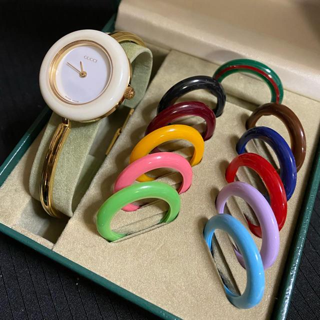 グッチ 財布 メンズ スーパーコピーヴィトン | Gucci - 良品☆GUCCI チェンジベゼル レディース腕時計の通販 by SAPHO' SHOP