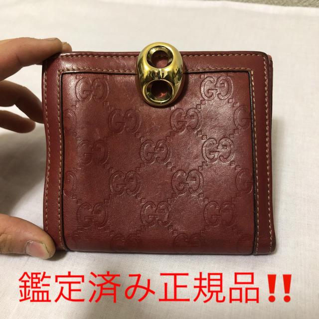 Gucci - グッチ シマ 2つ折り財布 レッドの通販 by Blue's shop