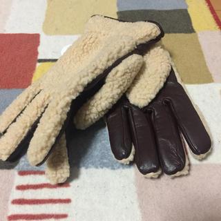 ビームス(BEAMS)の【新品】ビームス レザーモコモコ 手袋 タッチパネル対応(手袋)