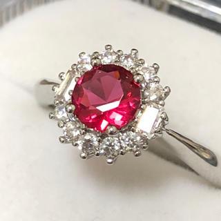 ルビーレッド✨シルバー925リング silver指輪(リング(指輪))