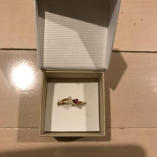 k18 ダイヤモンド ルビーリング(リング(指輪))