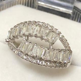 個性派ホワイトジルコニアダイヤモンドリング♡指輪(リング(指輪))
