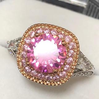 可愛く輝く✨ ピンクストーンリング レディース指輪(リング(指輪))