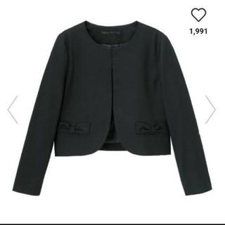 ジーユー(GU)の新品タグつきgu  ノーカラージャケット 130センチ(ドレス/フォーマル)