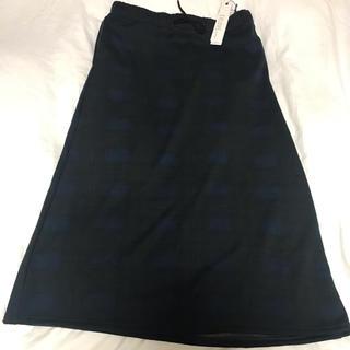 イビロブ(EVIROB)のEVLOVE 裏起毛チェックロングスカート 大きいサイズ(ロングスカート)